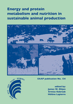 Energy and protein metabolism and nutrition in sustainable animal production