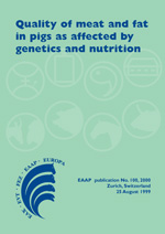 Quality of meat and fat in pigs as affected by genetics and nutrition