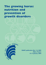 The growing horse: nutrition and prevention of growth disorders