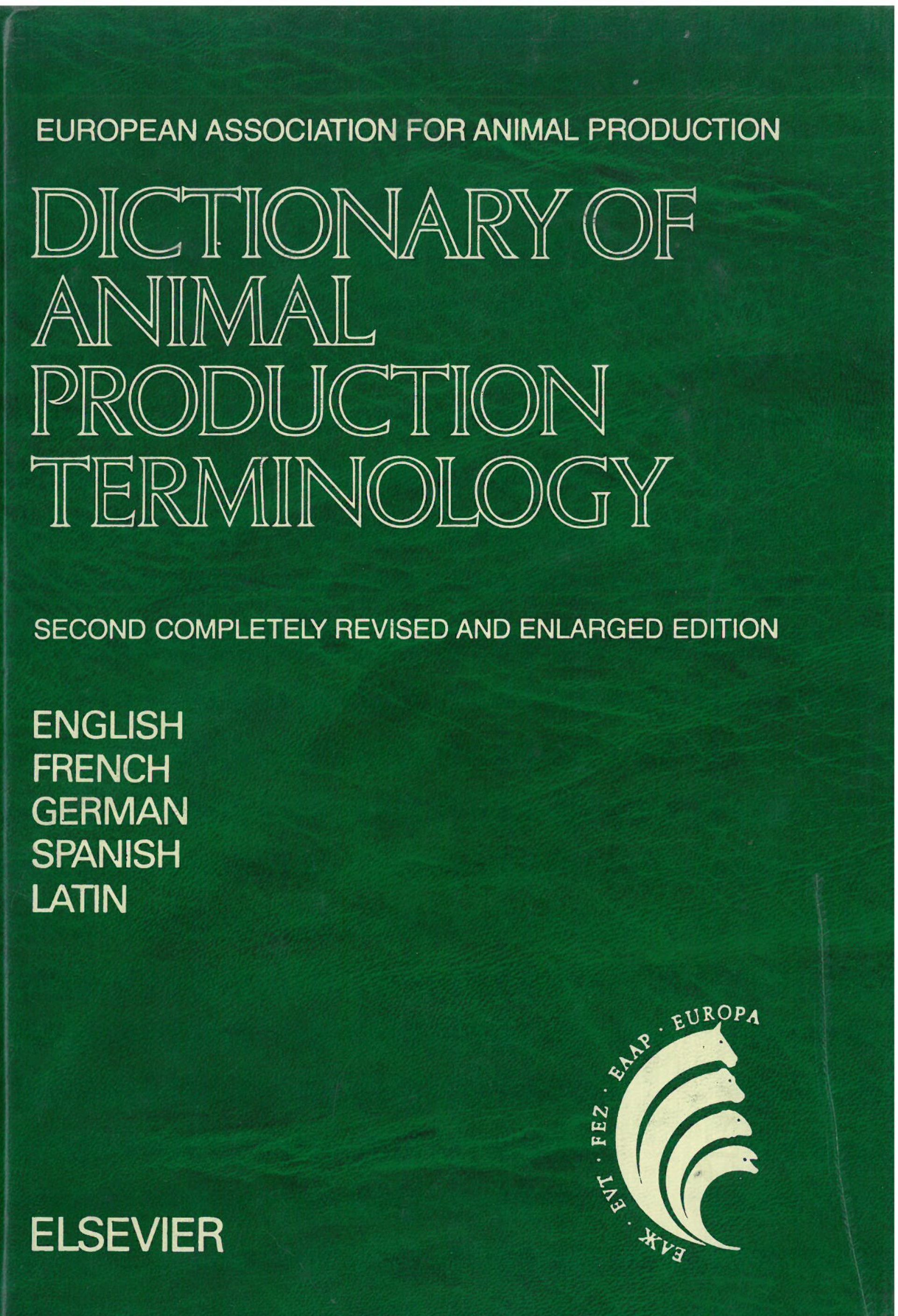 Dictionary of animal production terminology