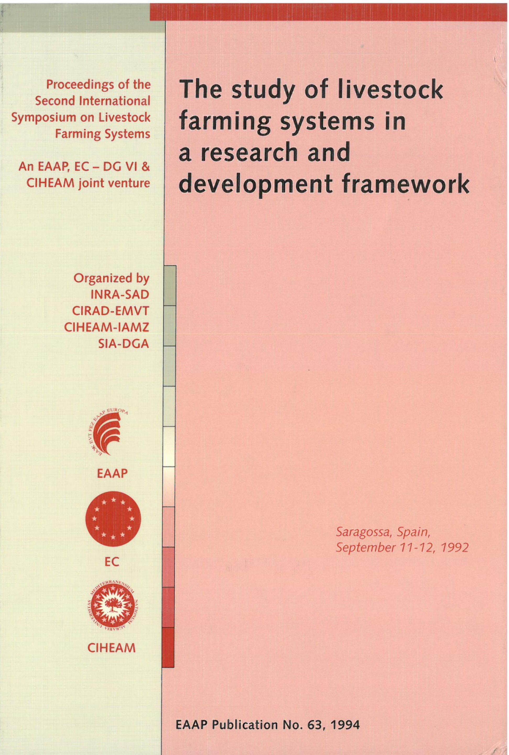 The study of livestock farming systems in a research and development framework
