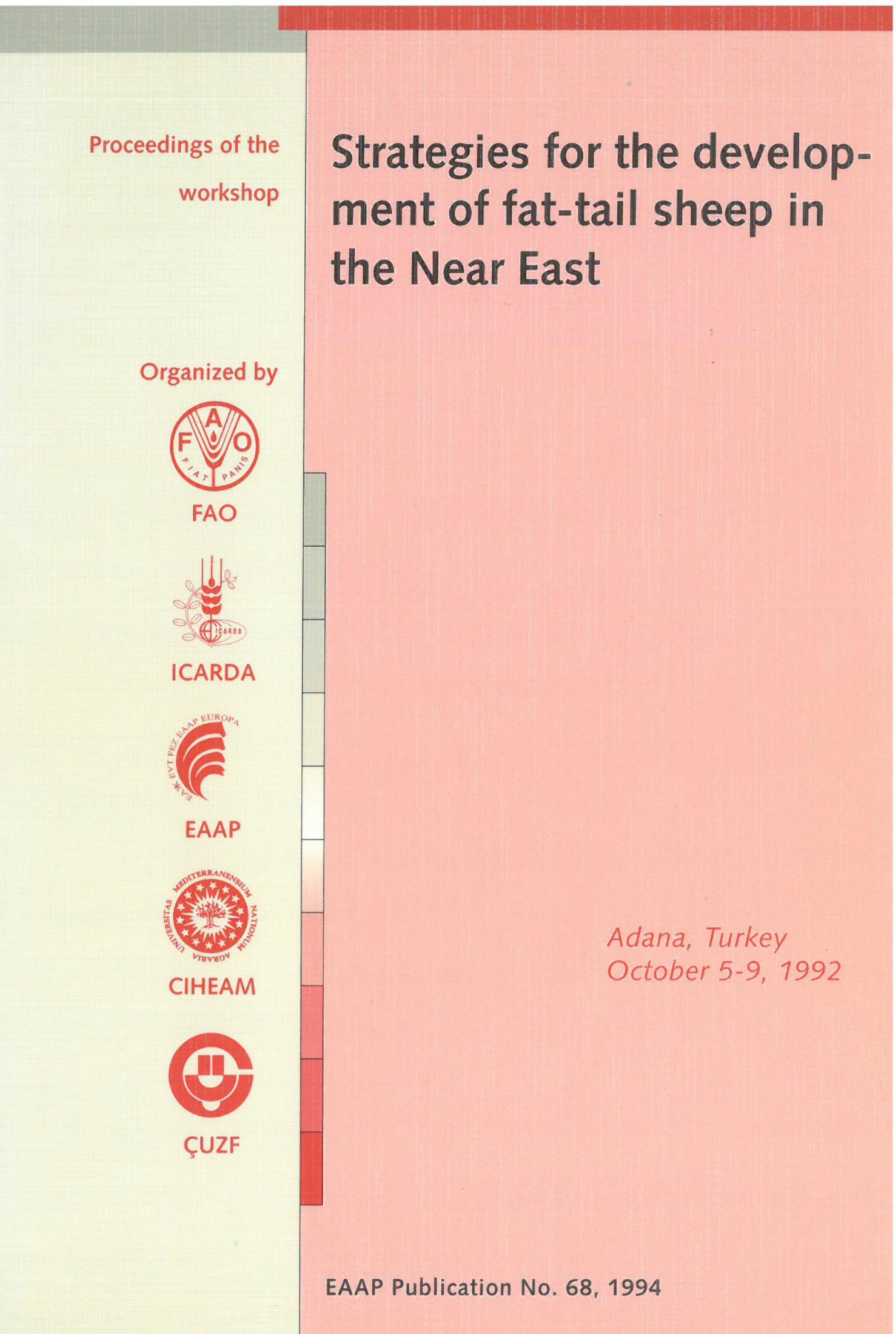 Strategies for the development of fat-tail sheep in the Near East