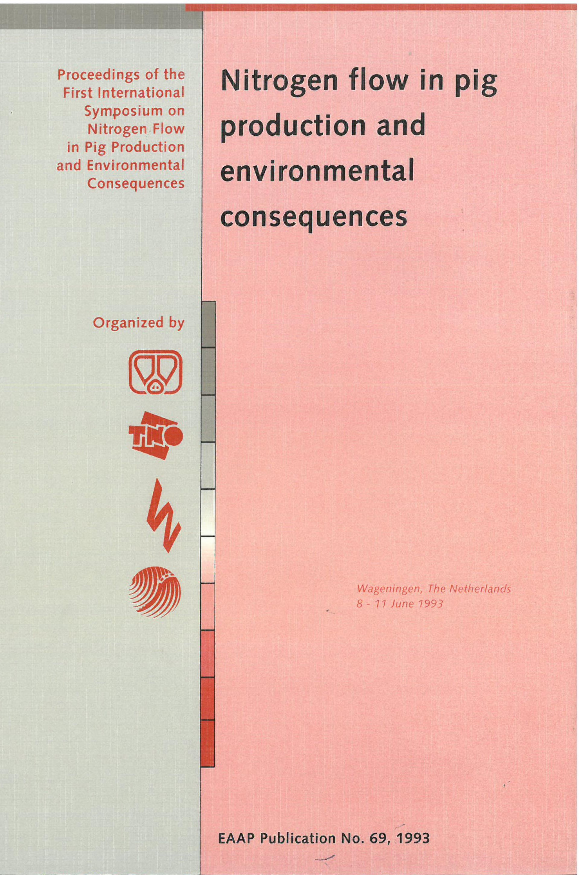 Nitrogen flow in pig production and environmental consequences
