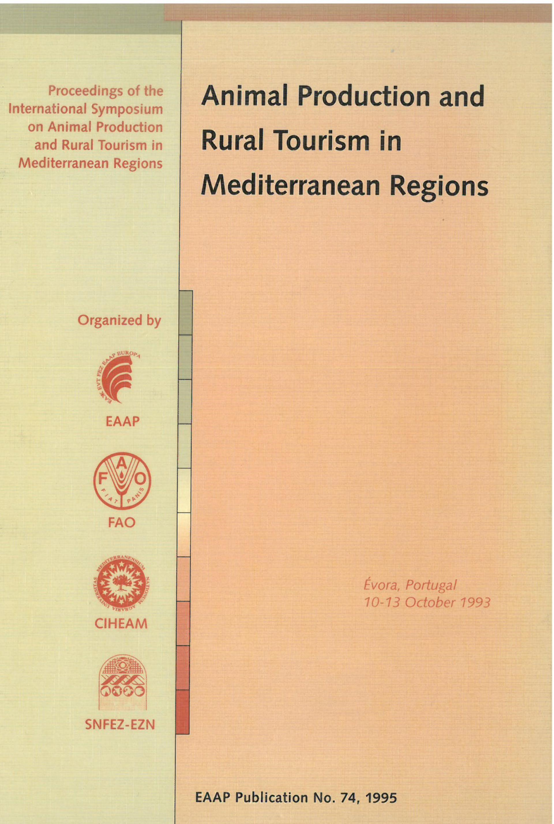 Animal production and Rural Tourism in Mediterranean Regions