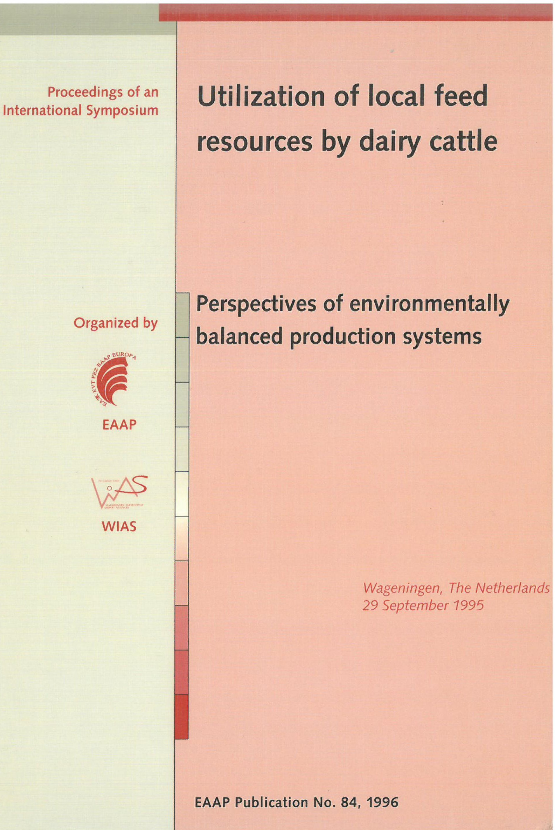 Utilization of local feed resources by dairy cattle – Perspectives of environmentally balanced production systems