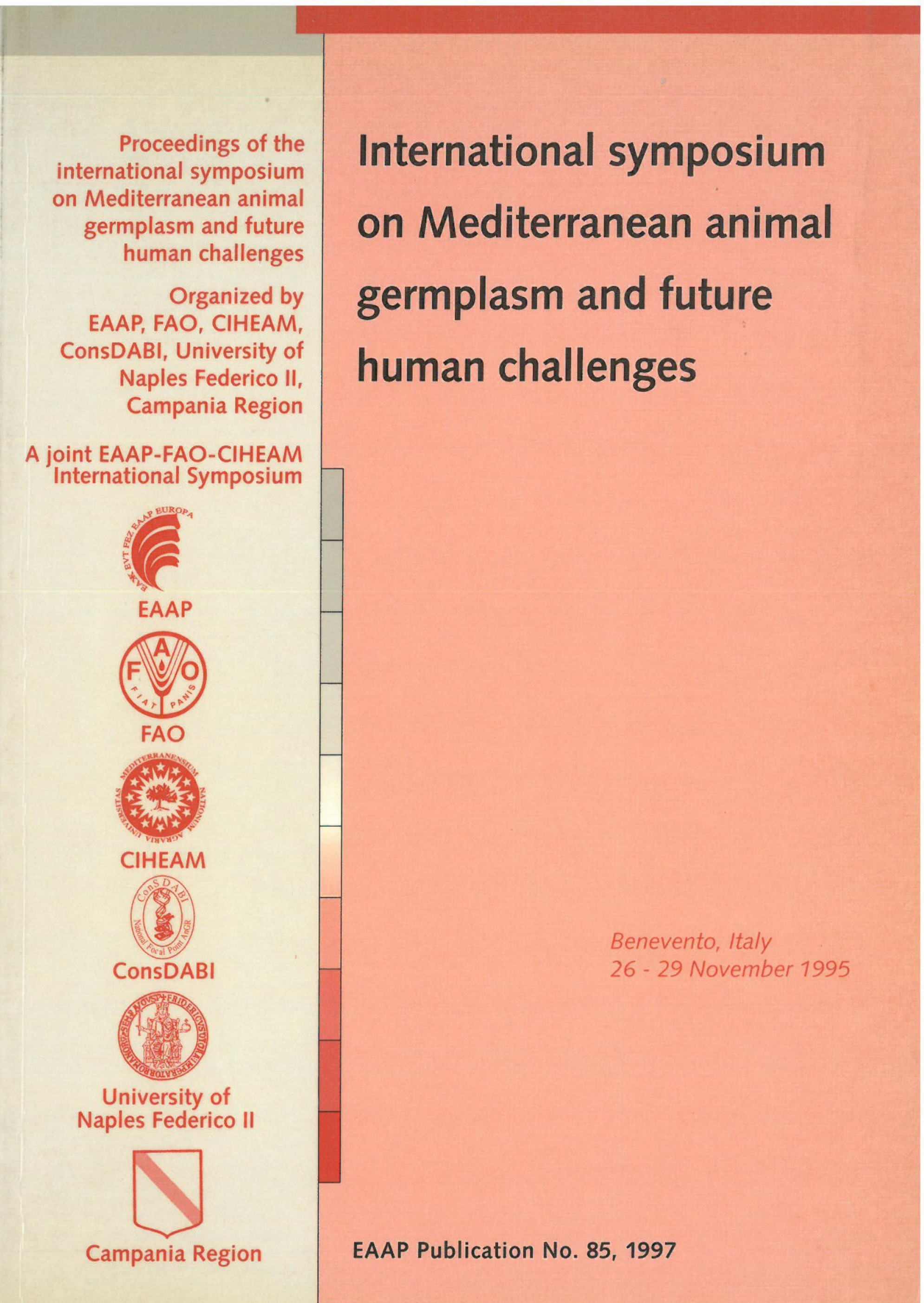 International symposium on Mediterranean animal germplasm and future human challenges