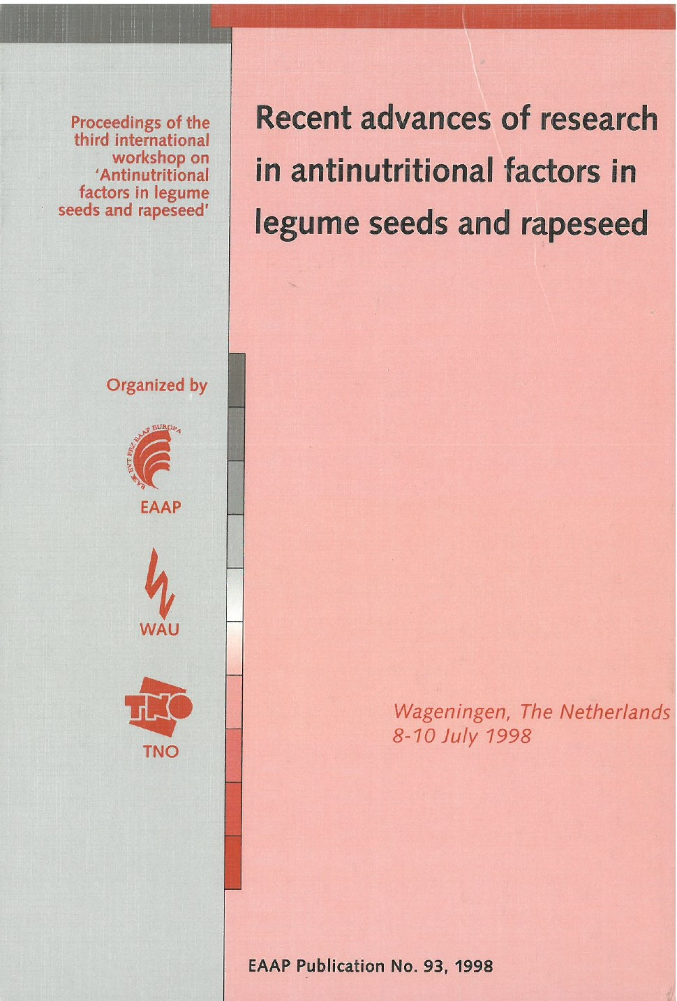 Recent advances of research in antinutritional factors in legume seeds and rapeseed