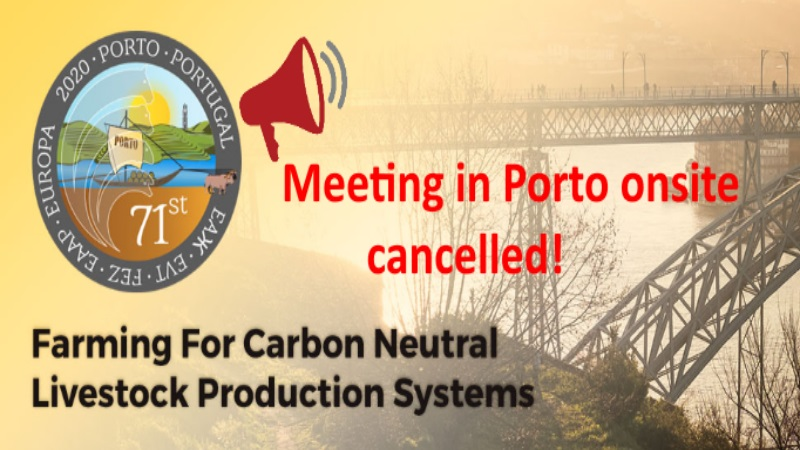 71st Annual Meeting in Porto onsite cancellation: the event will be held virtually