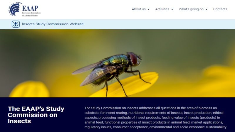 EAAP Insects Study Commission new website is online!