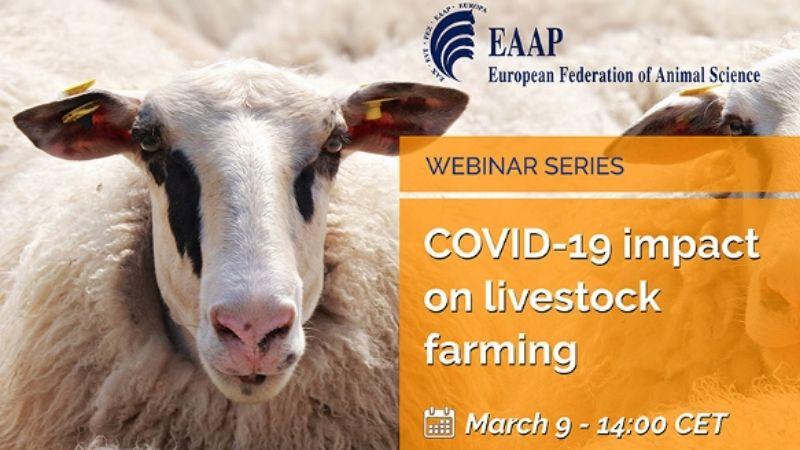 """1st EAAP Webinar: """"COVID-19 impact on livestock farming"""""""